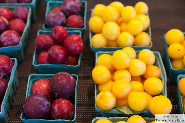 Fresh plums at Red Jacket Farmstore
