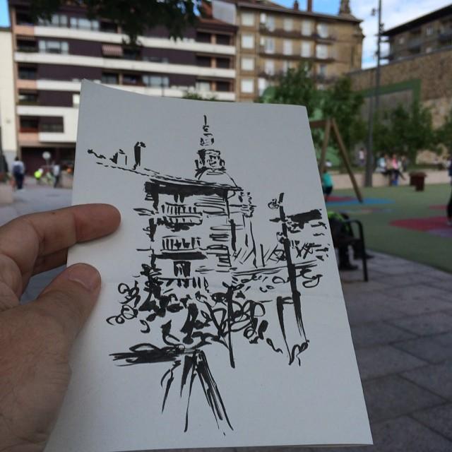 #urbansketch #pentel