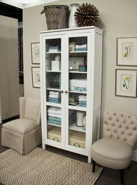 the hunt for a glass door cabinet life at cloverhill. Black Bedroom Furniture Sets. Home Design Ideas