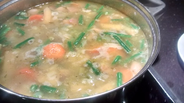 Sunday Soup (vege and ham)