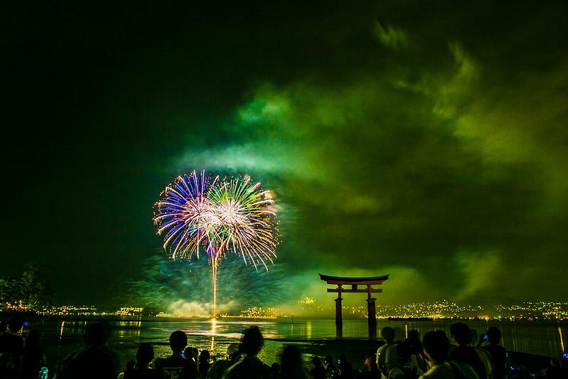 宮島水中花火大会2014(大鳥居前)210