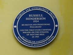 Photo of Russell Henderson blue plaque