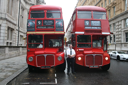 Tower Transit RM1627 (Route 9H), Red Routemaster RML1683, Charing Cross/Embankment - Last Routemaster on Route 9H