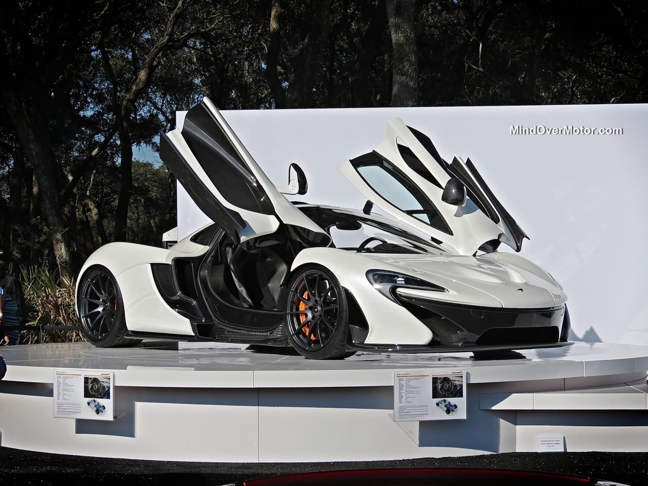 White McLaren P1 at the Amelia Island Concours d'Elegance