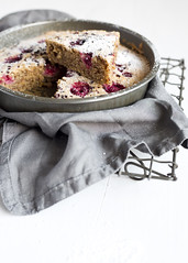 Raspberry Cacao Tea Cake