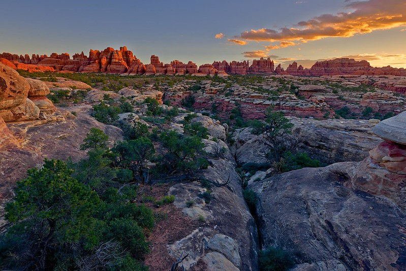 Sunset in the Needles - Canyonlands National Park