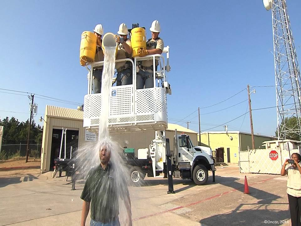 Oncor VP Wes Speed Takes ALS Ice Bucket Challenge