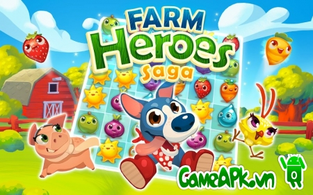 Farm Heroes Saga v2.12.7 hack full Lives & Boosters cho Android
