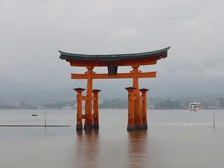 Image of Itsukushima Shrine near Miyajima. japan train temple emu nara matsue