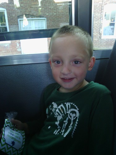 Aug 14 2014 Elden's first bus ride
