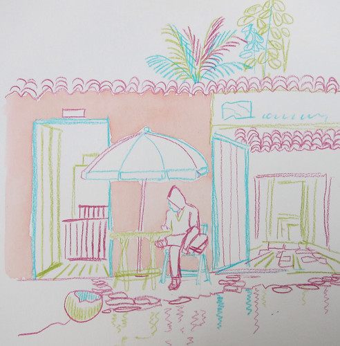 Colored line exercise, Paraty, Brazil