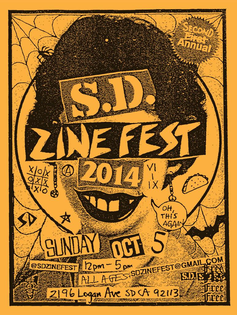 San Diego Zine Fest 2014-flyer