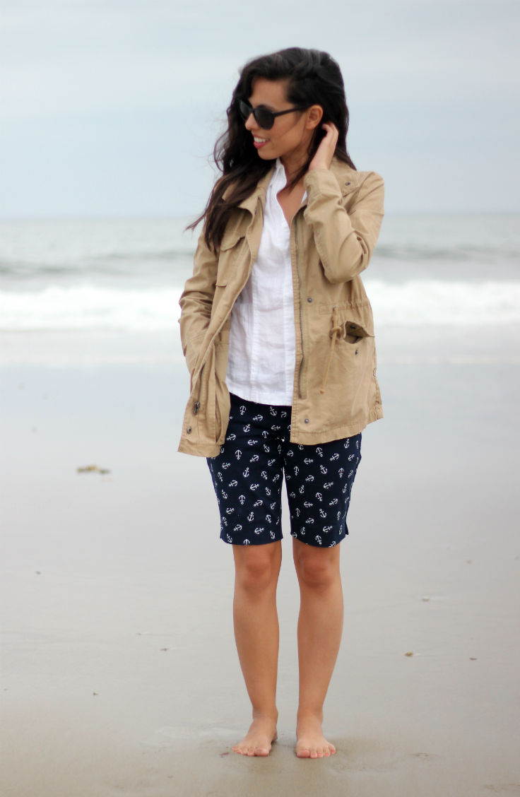 casual beach outfit, austin style blog