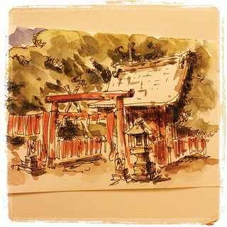 Second postcard from japan #japon #pfj #carbon #watercolor