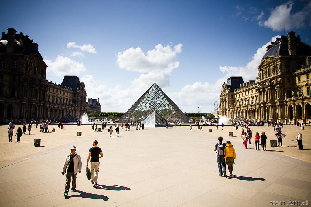 Louvre Museum Plaza during the day