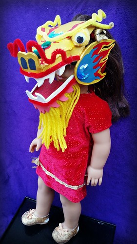 Chinese dragon American Girl doll mask (3)