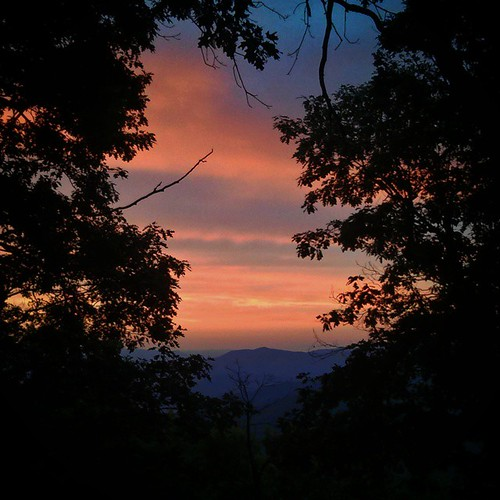 Last night's sunset from Shenandoah National Park.