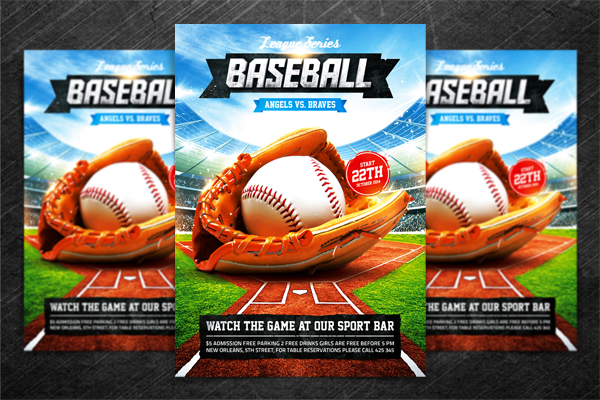 Baseball League Series Flyer Psd Template  A Photo On Flickriver