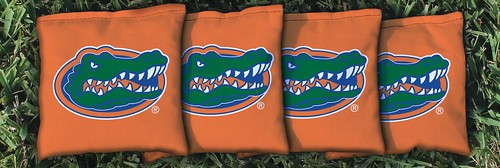 FLORIDA GATORS UF ORANGE CORNHOLE BAGS