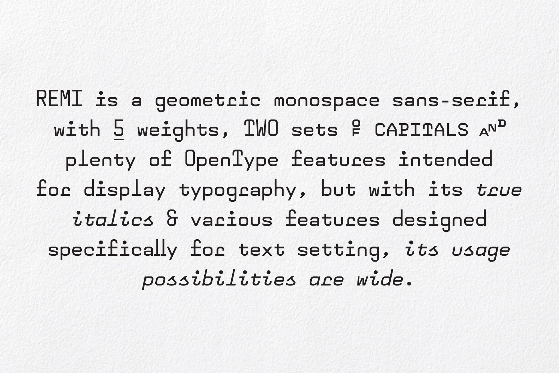 The Construction And Proportions Are Based On Classic Segmented LCD Fonts Capitals Same Height As Ascender X Is