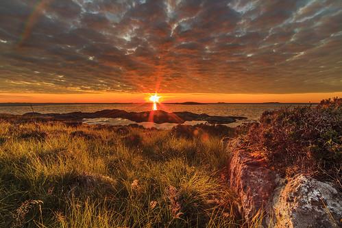 sunset norway aukra