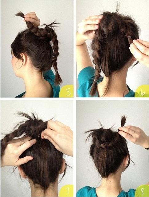 Cách búi tóc đẹp đơn giản! Kiểu búi tóc cao, phồng, xì tin 11
