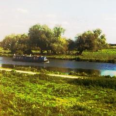 Flodbåt nära Doncaster.