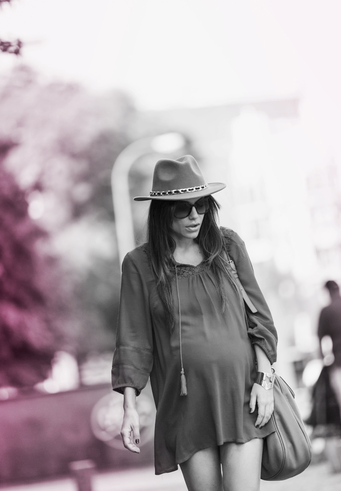 street style barbara crespo raspberry C&A dress sendra boots fashion blogger outfit blog de moda