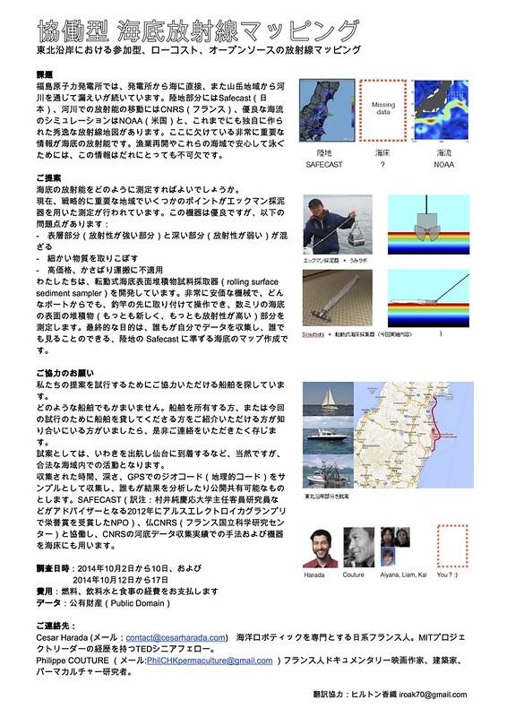 海床放射線調査へのご協力者募集について(Proposal