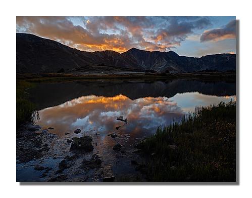 reflection sunrise colorado lovelandpass passlake