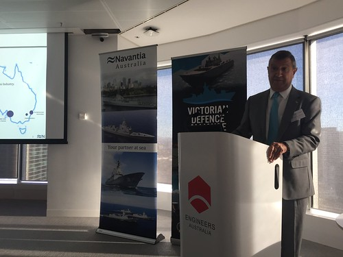 Mr Francisco Baron (Director, Navantia Australia) speaking at the Navantia Industry Engagement Event - Melbourne 17 March 2017