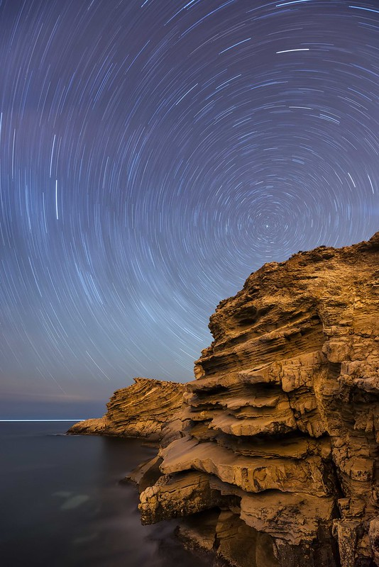 Polaris Star Trails , Punta Galera , Ibiza ...