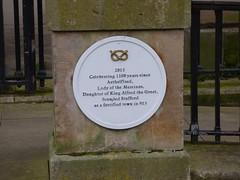 Photo of Aethelflaed white plaque