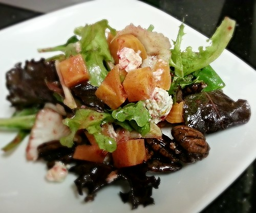 Pickled beets and goat cheese salad