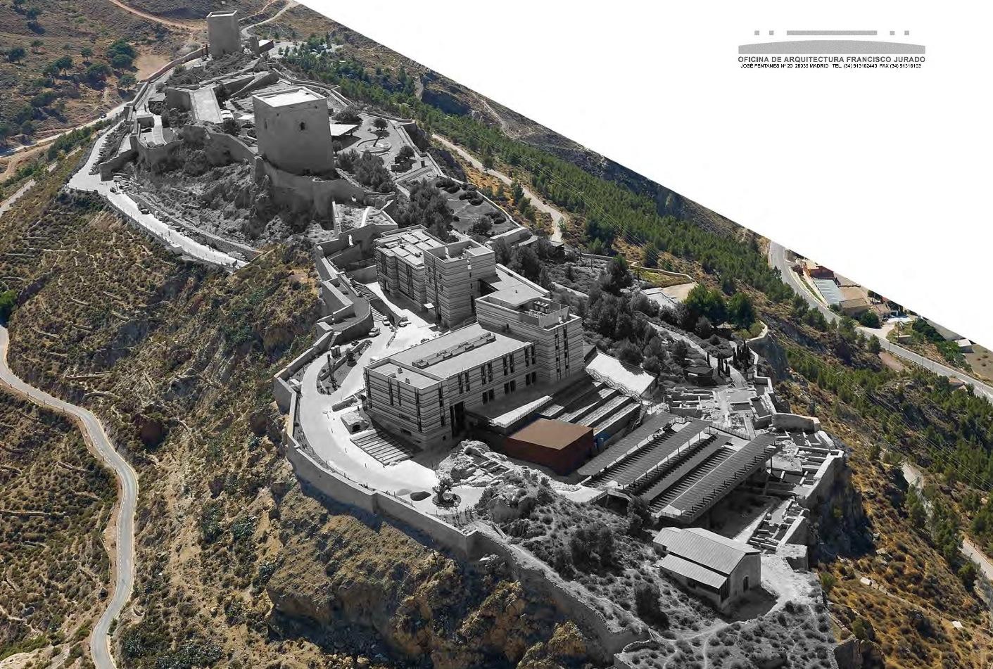 Castillo de lorca: fuente oficina francisco jurado, arquitecto