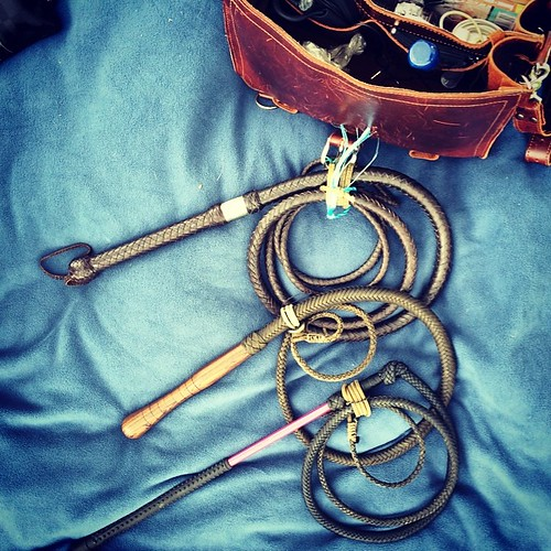 It's Saturday. That means #whip day. #bullwhip #stockwhip #leather #boom