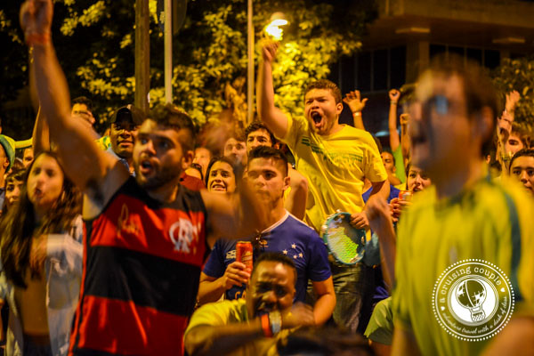 Fans Cheer for Brazil Goal at World Cup 2014