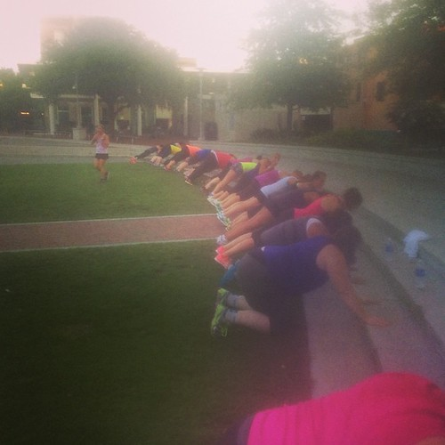Did #bootcamp this morning. Humid but fun! #fitbloggin