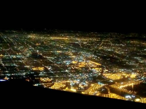 Los Angeles from the plane. Goodbye until next time!
