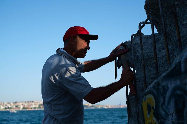 Istanbul - Karaköy street artist Erol Sürmen