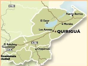 Mapa de Quiriguá (Guatemala)