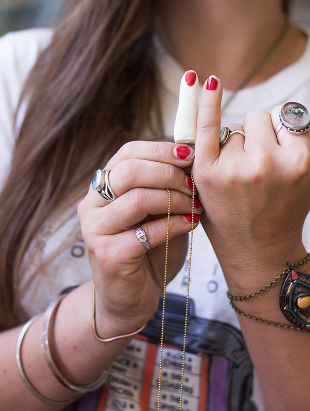 eclectic jewelry on Whitney Sharpe of Latch Key