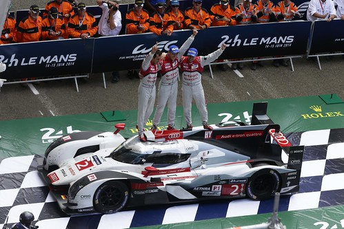 Marcel Fässler, André Lotterer, Benoît Tréluyer Audi 24h Le Mans 2014