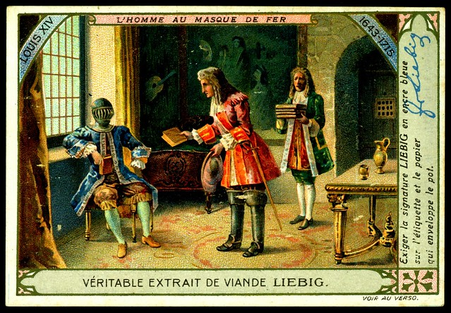 "Liebig Tradecard S1007 - ""The Man in the Iron Mask"""