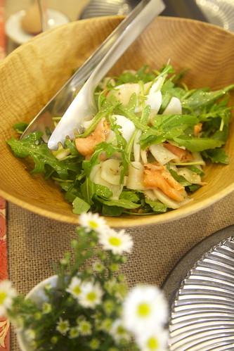 サーモンとかぶとルッコラのサラダ