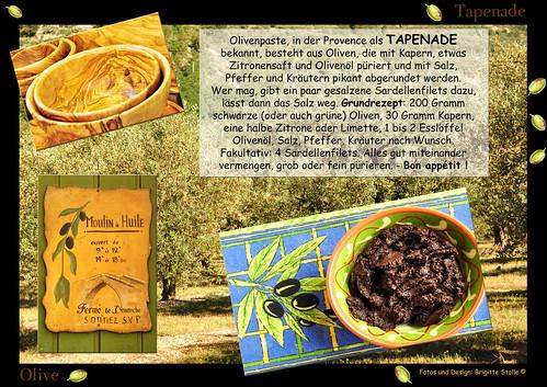 Olive Olivenöl Rezept Ölbaum Ölbäume Provence Kräuter Knoblauch Tapenade Spezialität Brigitte Stolle
