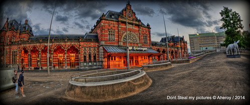 street city holland art netherlands dutch architecture clouds fun town europe colours different nederland surreal fisheye railwaystation groningen stad streetshot tonemapped singlerawhdr stadsbalkon hoofdstation aheroy aheroyal hoofdstationgroningen beautifulgroningen canonef815mmf4lfisheye