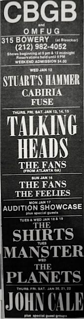 CBGB 1-12-77