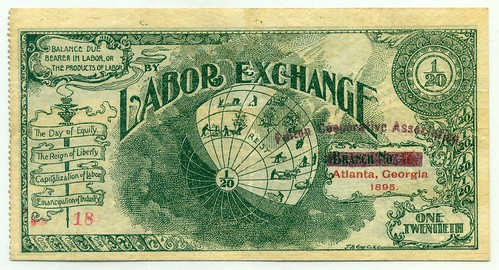 Atlanta GA Labor Exchange note front