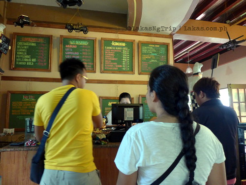 At the counter of Seagull Coffee Shop at Lorega, Kitaotao, Bukidnon